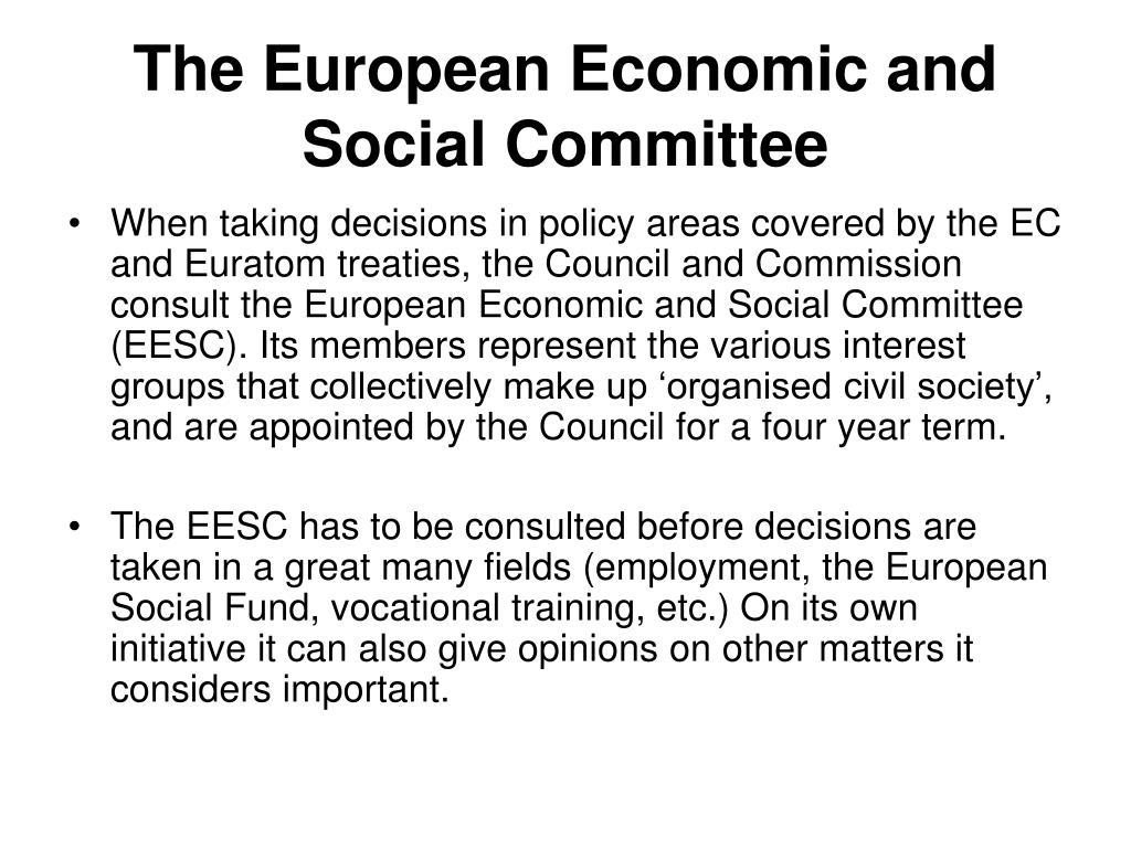 The European Economic and Social