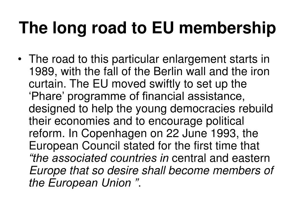 The long road to EU membership