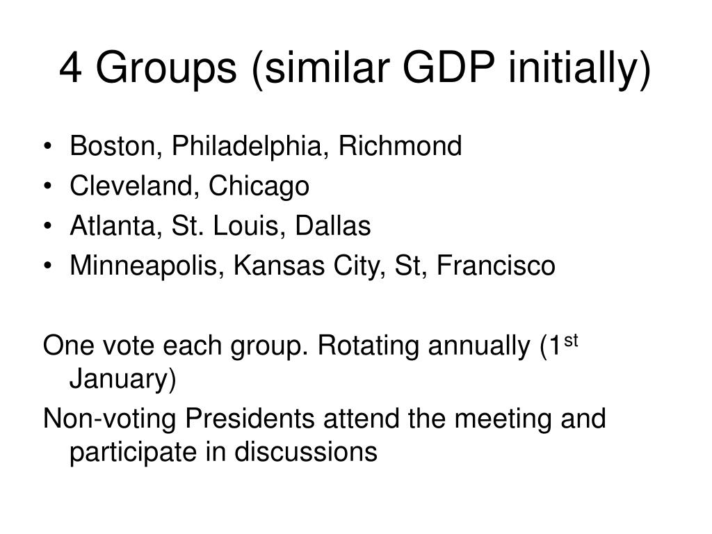 4 Groups (similar GDP initially)