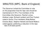 minutes mpc bank of england