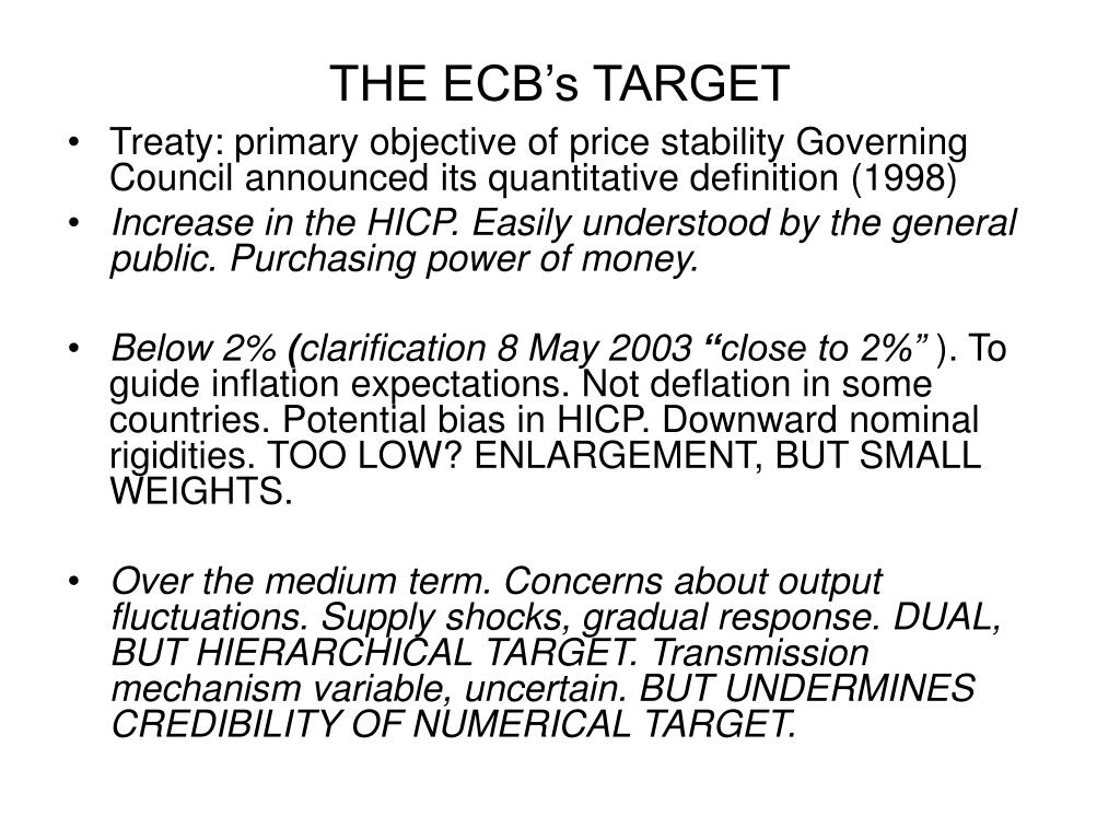 THE ECB's TARGET