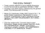 the ecb s target