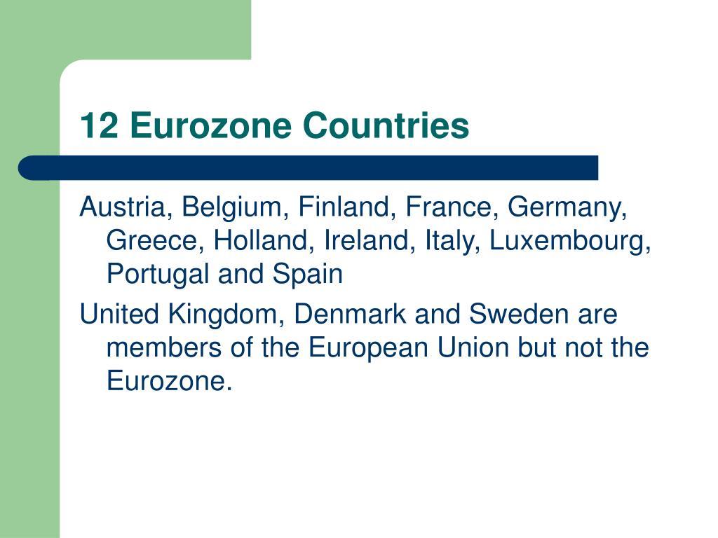 12 Eurozone Countries