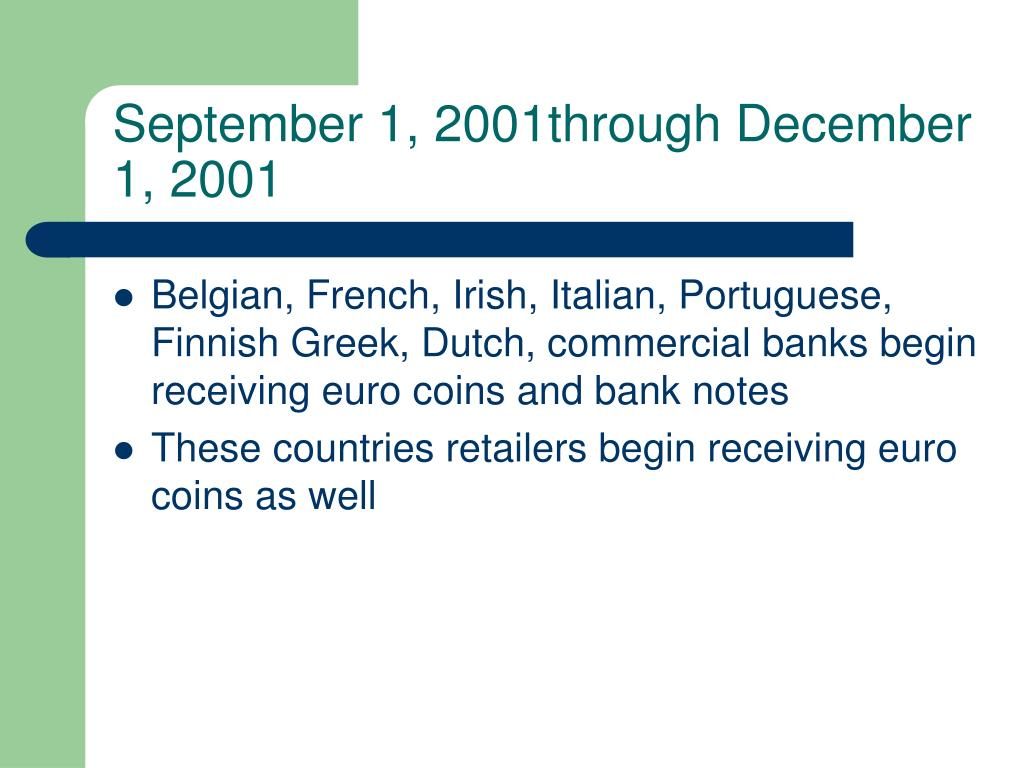 September 1, 2001through December 1, 2001