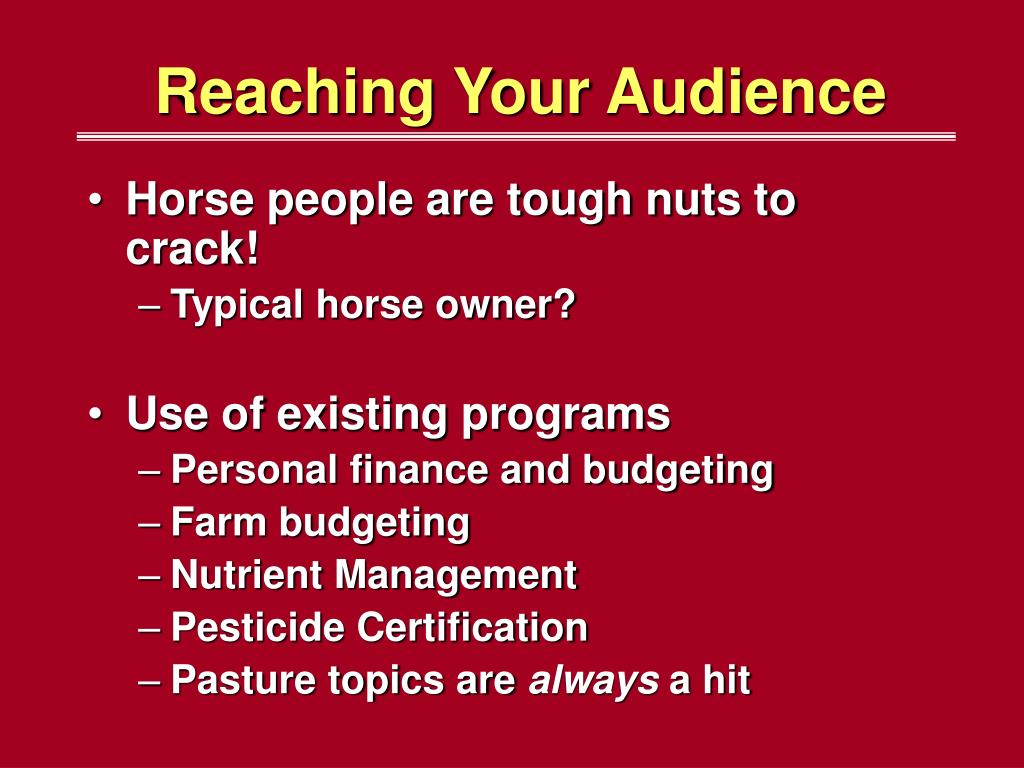 Reaching Your Audience
