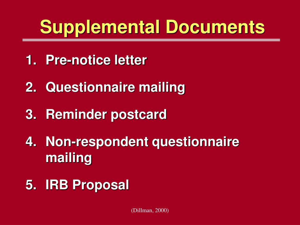 Supplemental Documents
