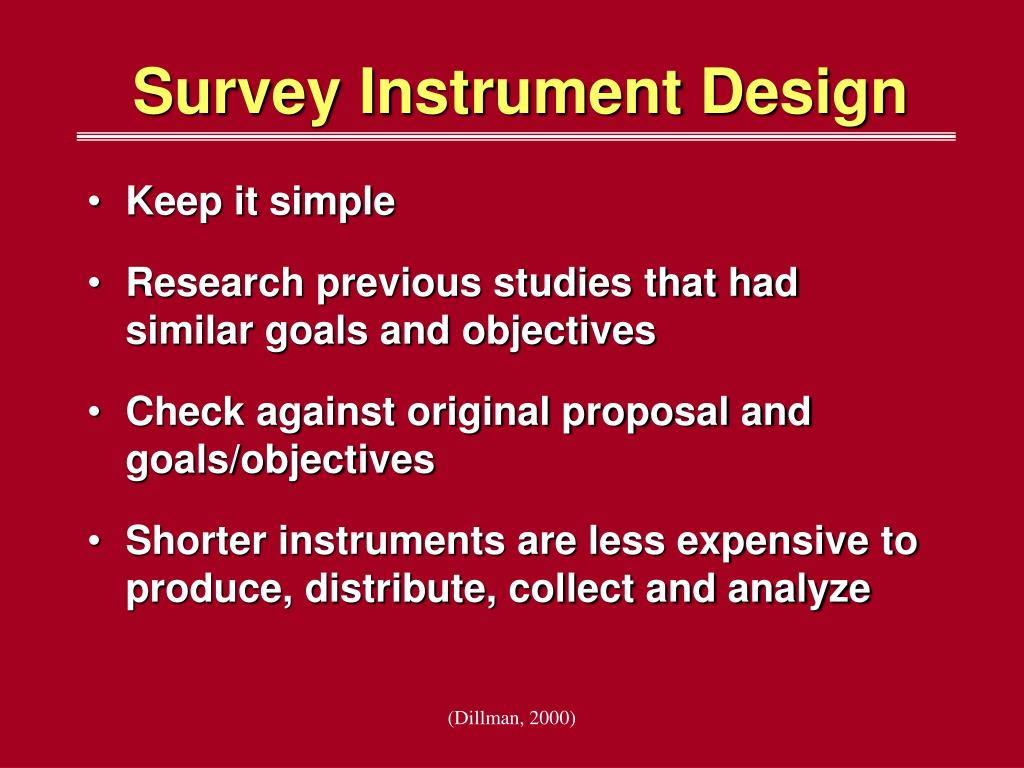 Survey Instrument Design
