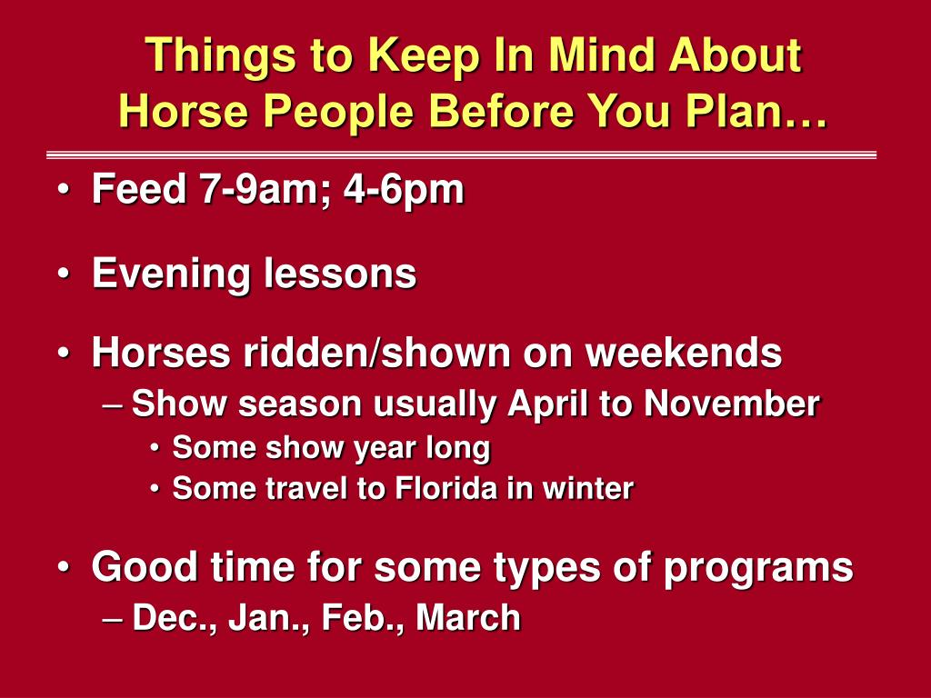 Things to Keep In Mind About Horse People Before You Plan…