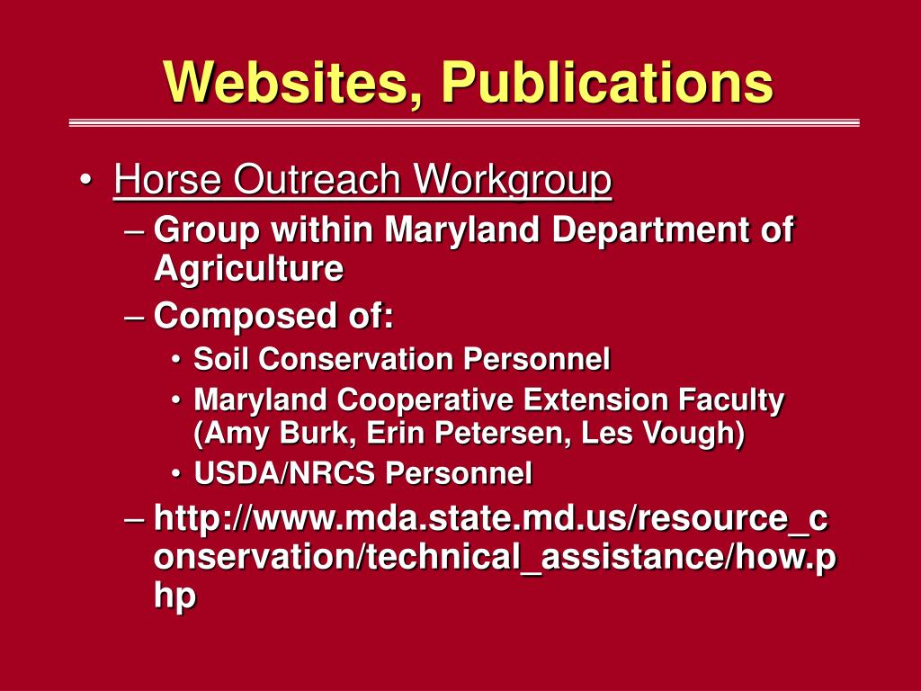 Websites, Publications