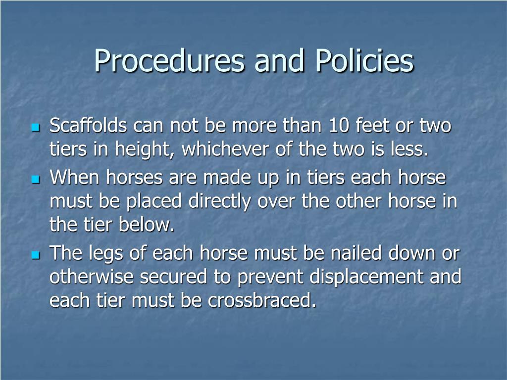 Procedures and Policies