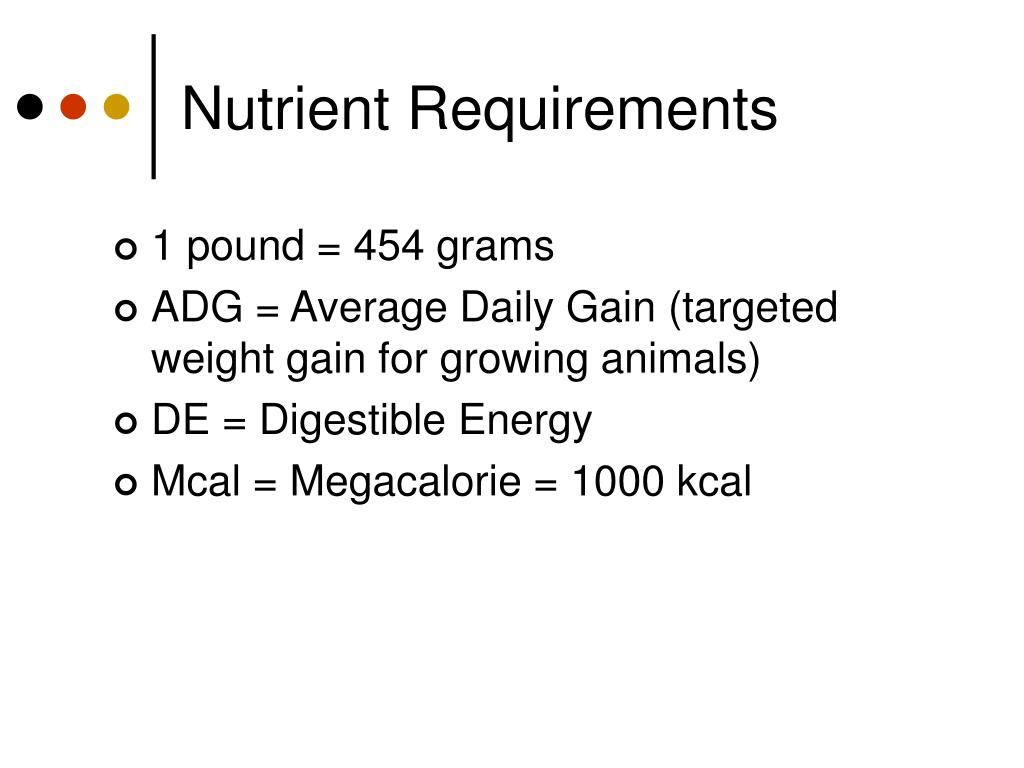 Nutrient Requirements
