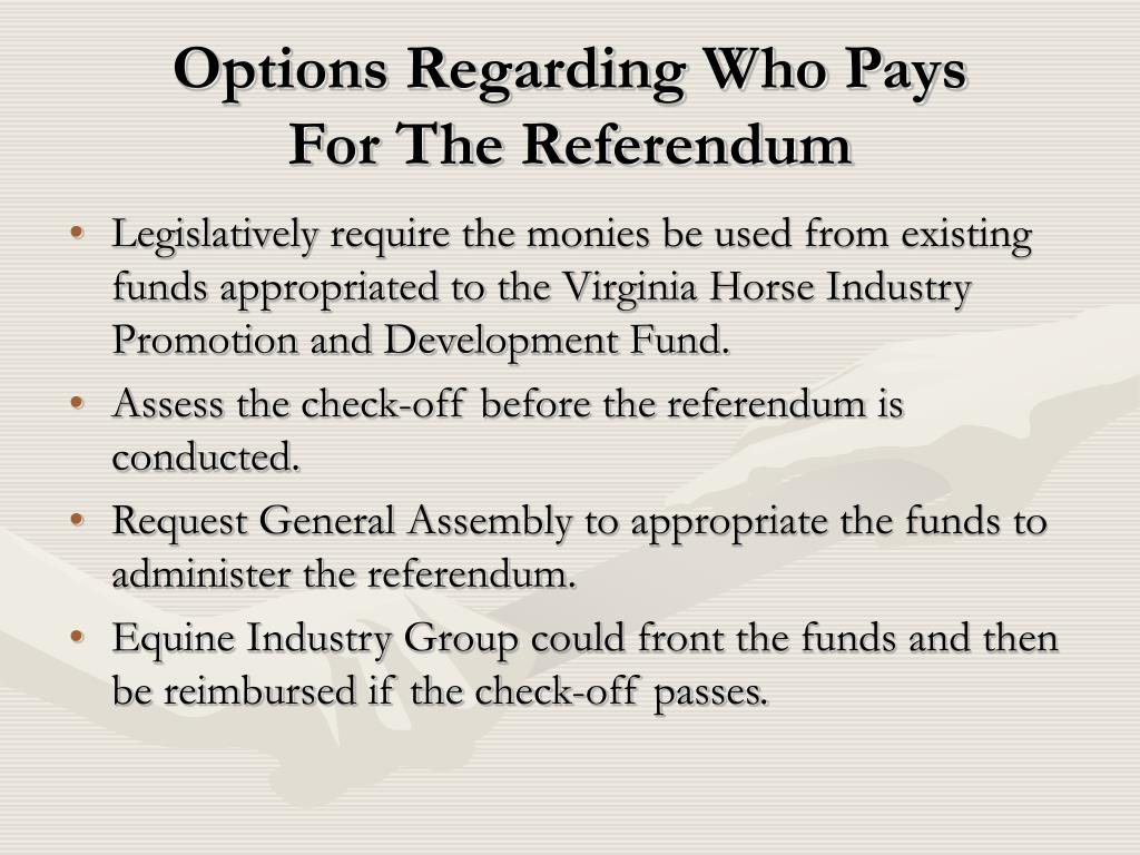 Options Regarding Who Pays