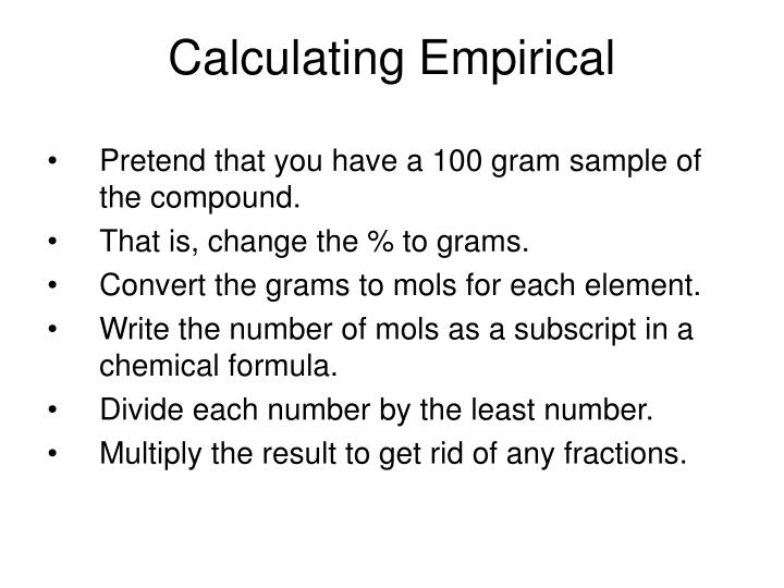 Calculating Empirical