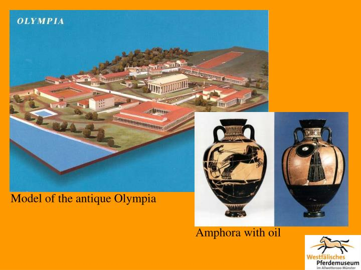 Model of the antique Olympia