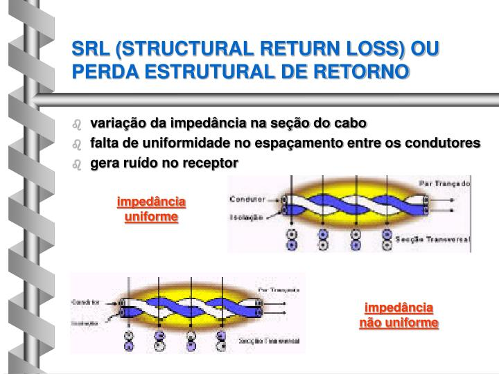 SRL (STRUCTURAL RETURN LOSS) OU PERDA ESTRUTURAL DE RETORNO