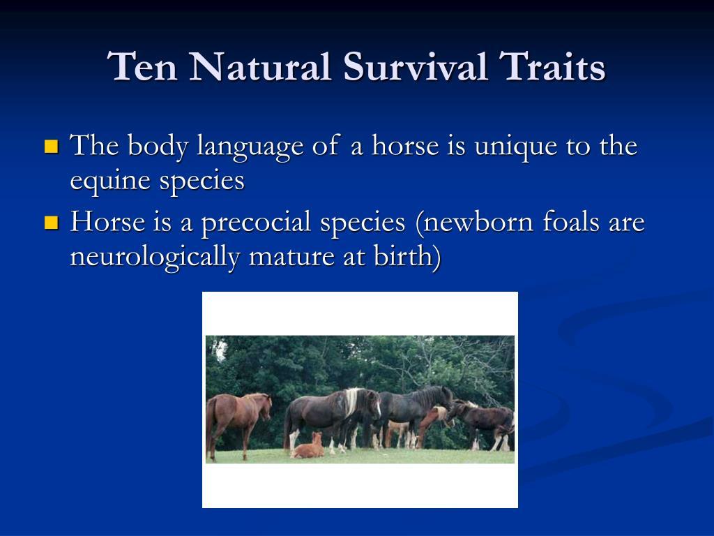 Ten Natural Survival Traits