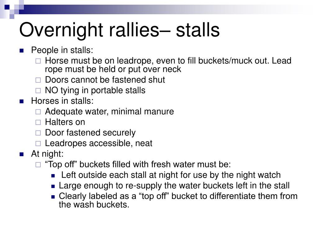 Overnight rallies– stalls