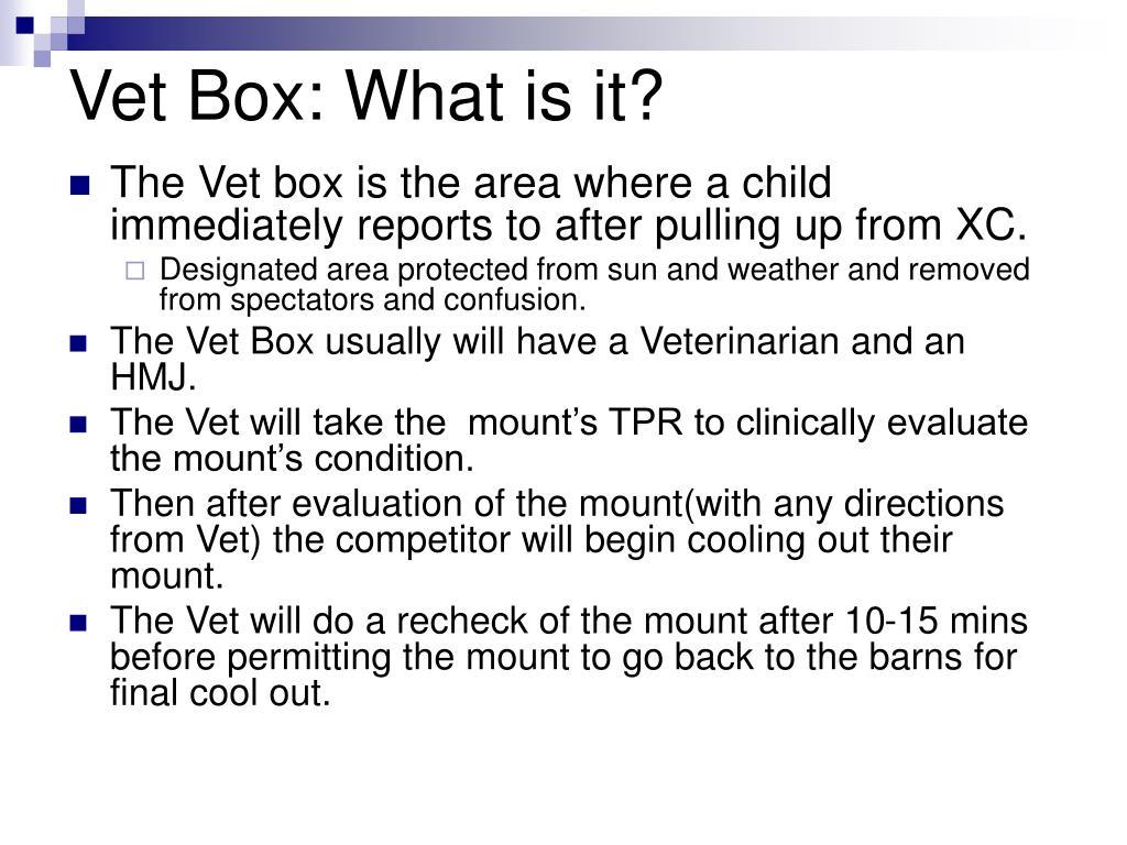 Vet Box: What is it?