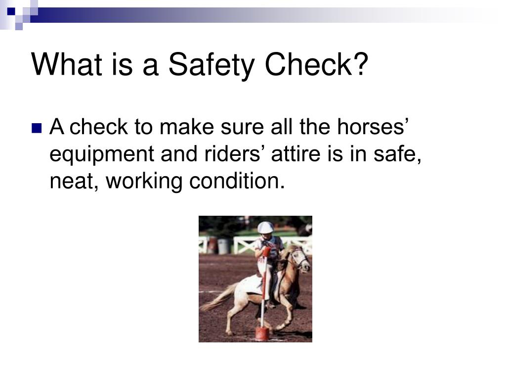 What is a Safety Check?