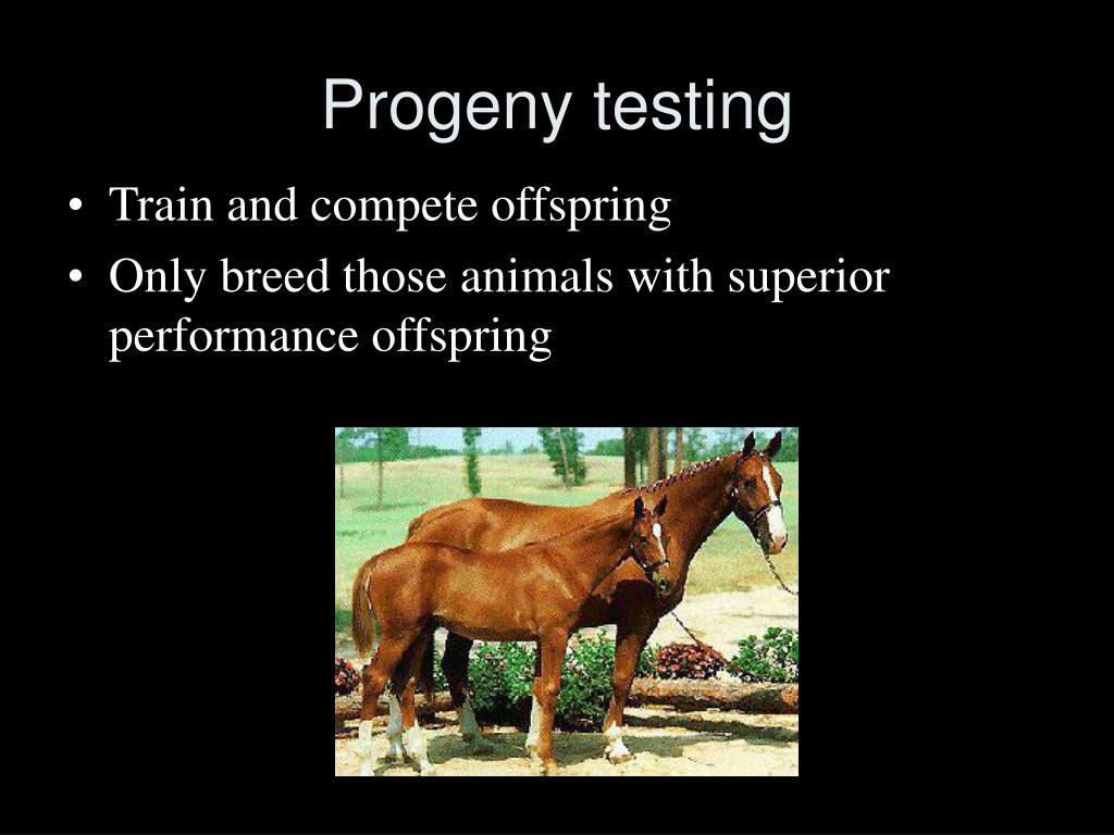 Progeny testing