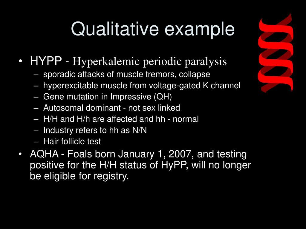 Qualitative example