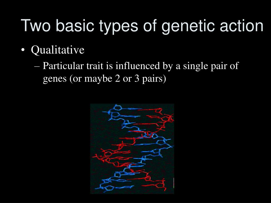 Two basic types of genetic action