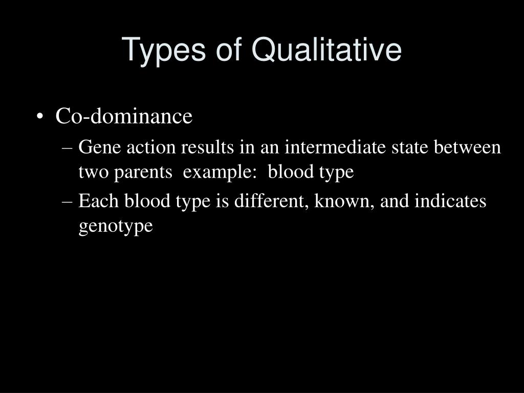 Types of Qualitative