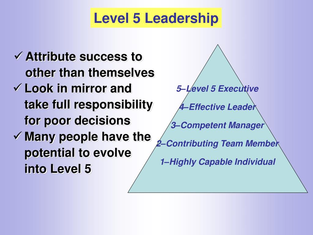 5–Level 5 Executive