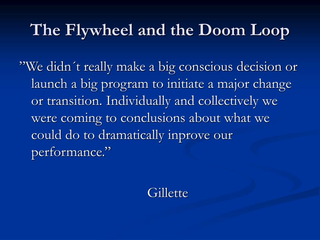 The Flywheel and the Doom Loop