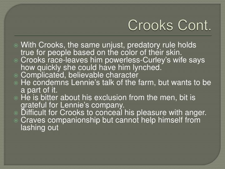 Crooks Cont.