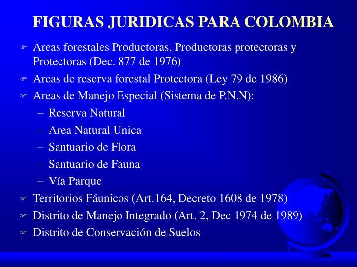 FIGURAS JURIDICAS PARA COLOMBIA