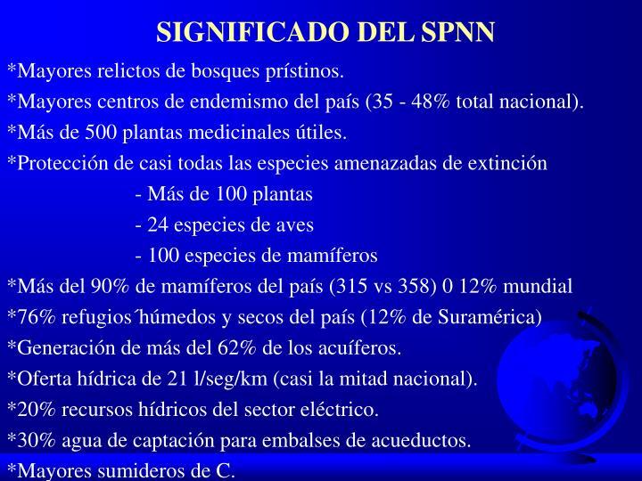 SIGNIFICADO DEL SPNN