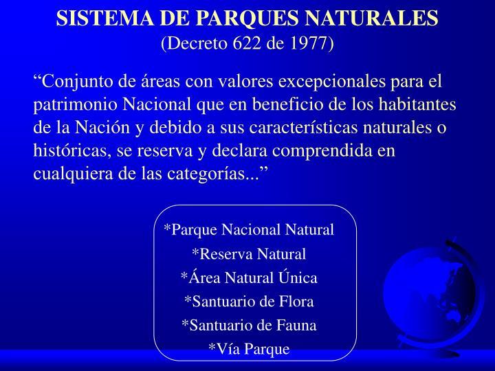 SISTEMA DE PARQUES NATURALES
