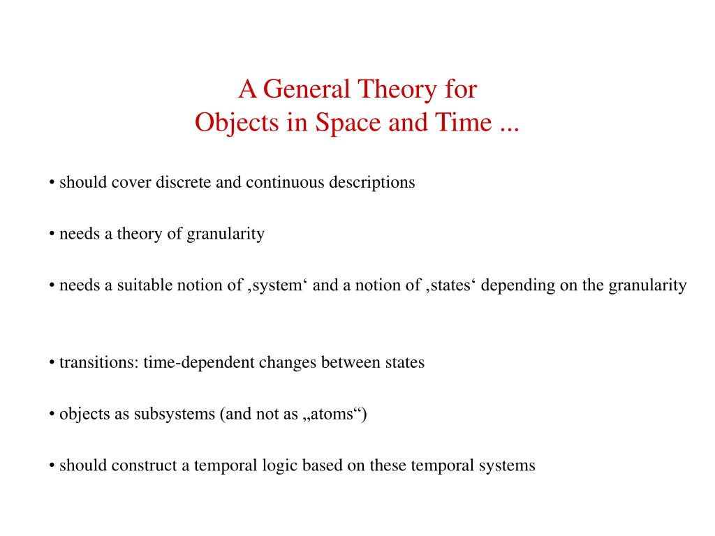 A General Theory for