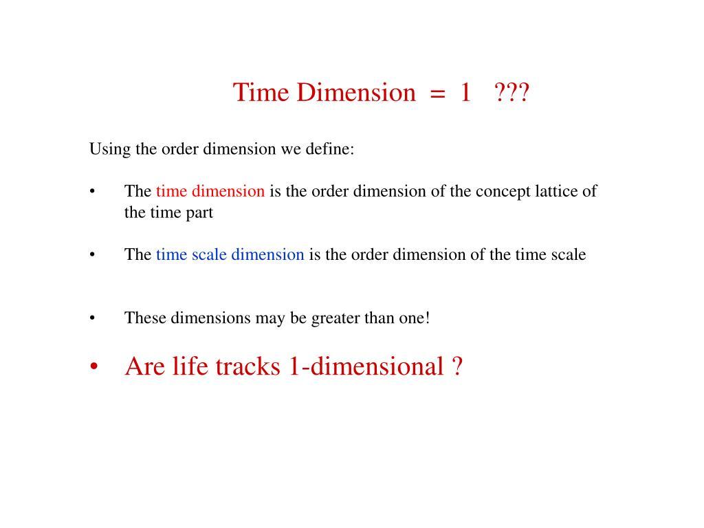 Time Dimension  =  1   ???