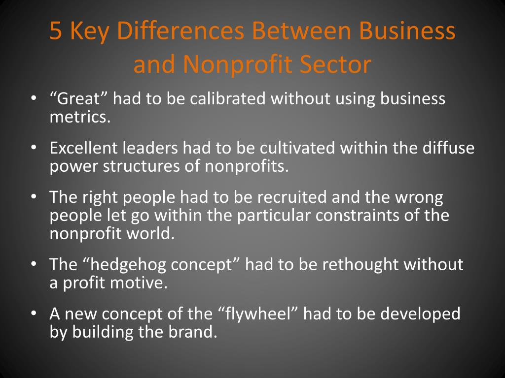5 Key Differences Between Business and Nonprofit Sector