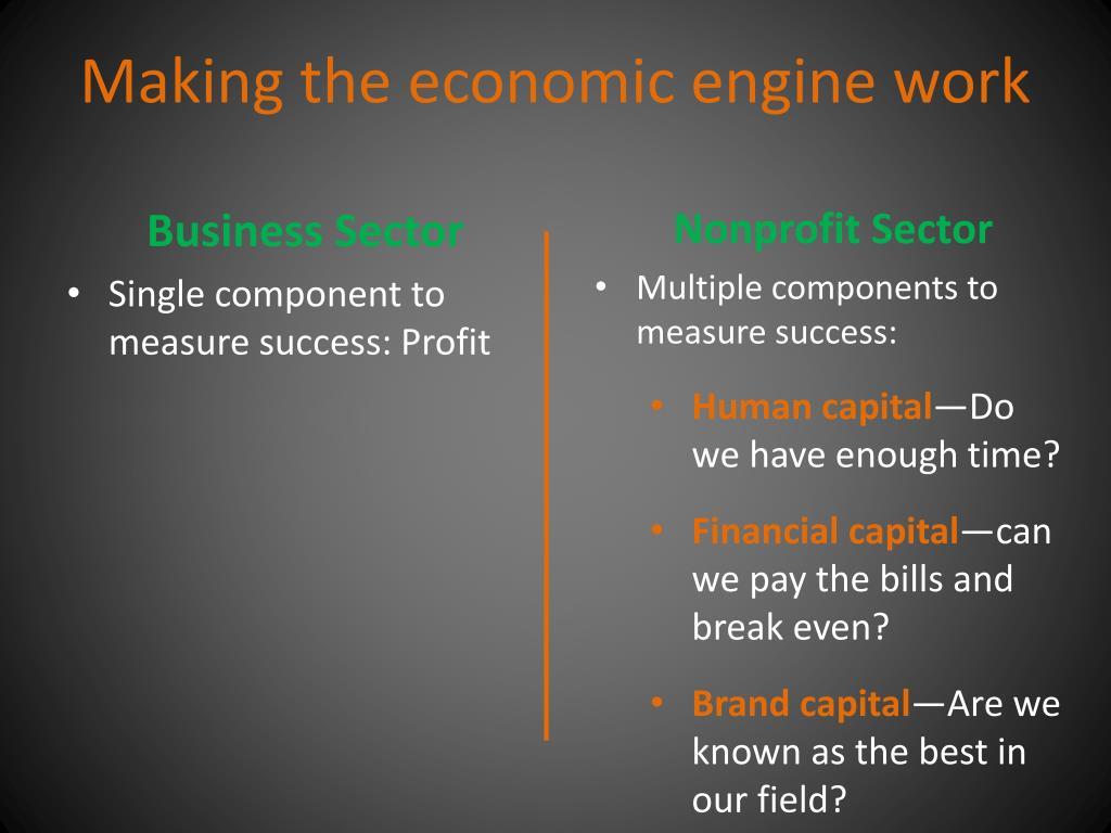 Making the economic engine work