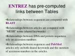 entrez has pre computed links between tables