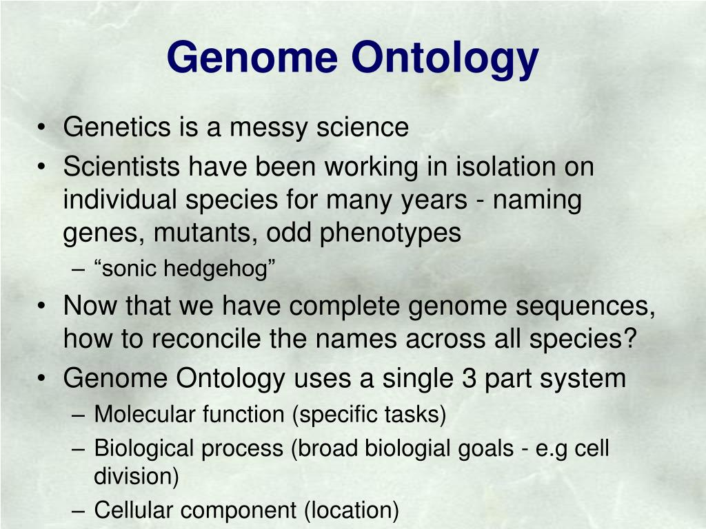 Genome Ontology