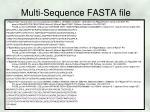 multi sequence fasta file