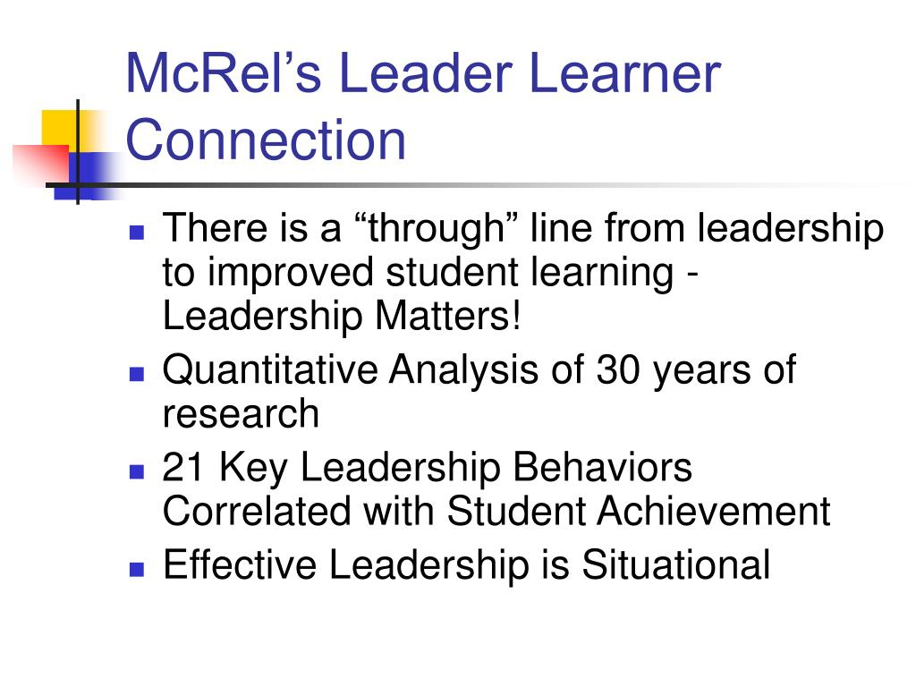 McRel's Leader Learner Connection
