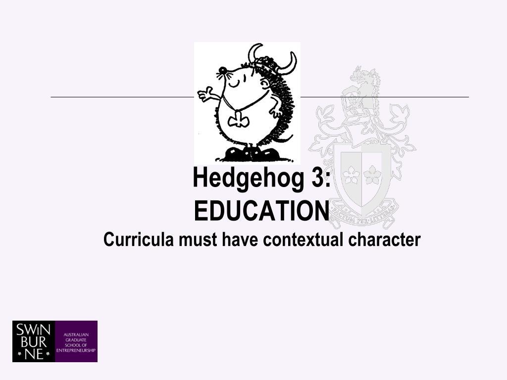 Hedgehog 3: