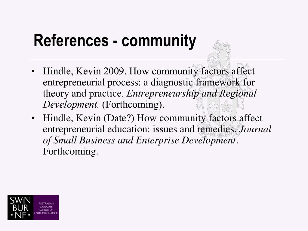 References - community