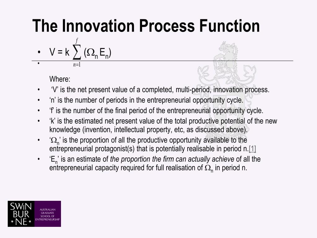 The Innovation Process Function