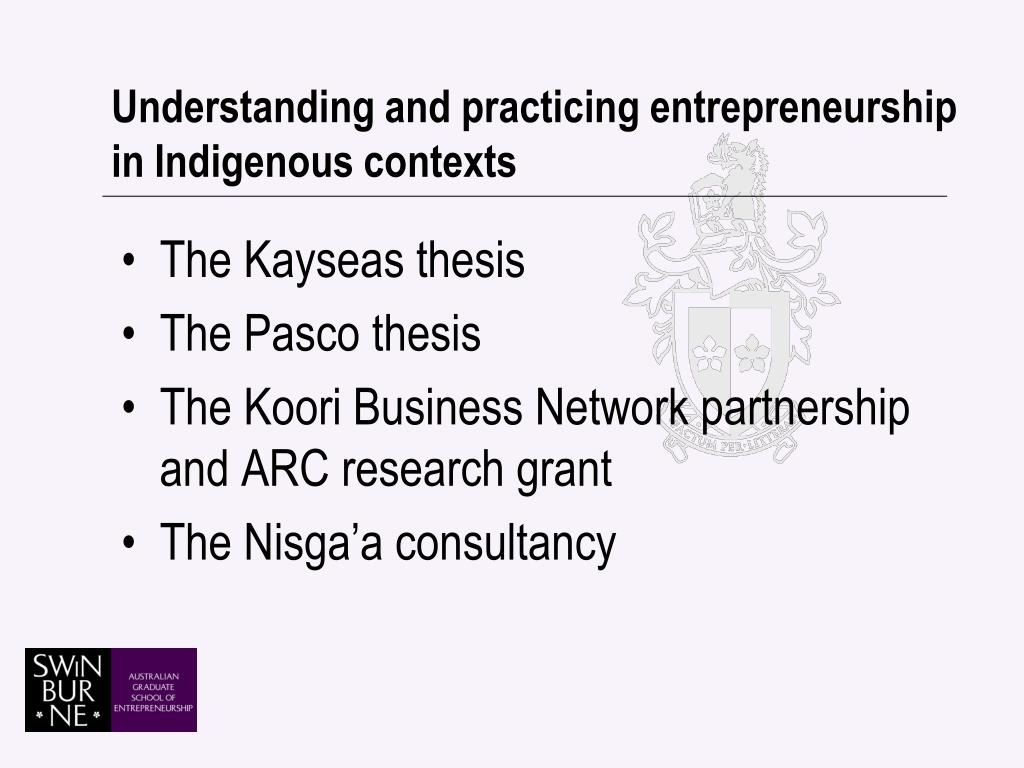 Understanding and practicing entrepreneurship in Indigenous contexts