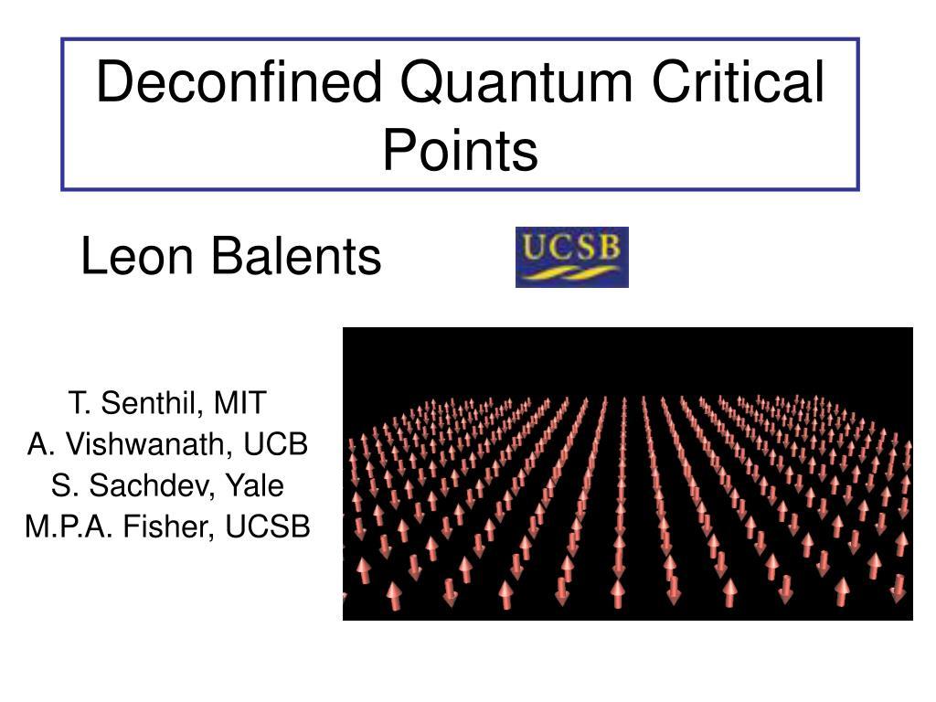 Deconfined Quantum Critical Points