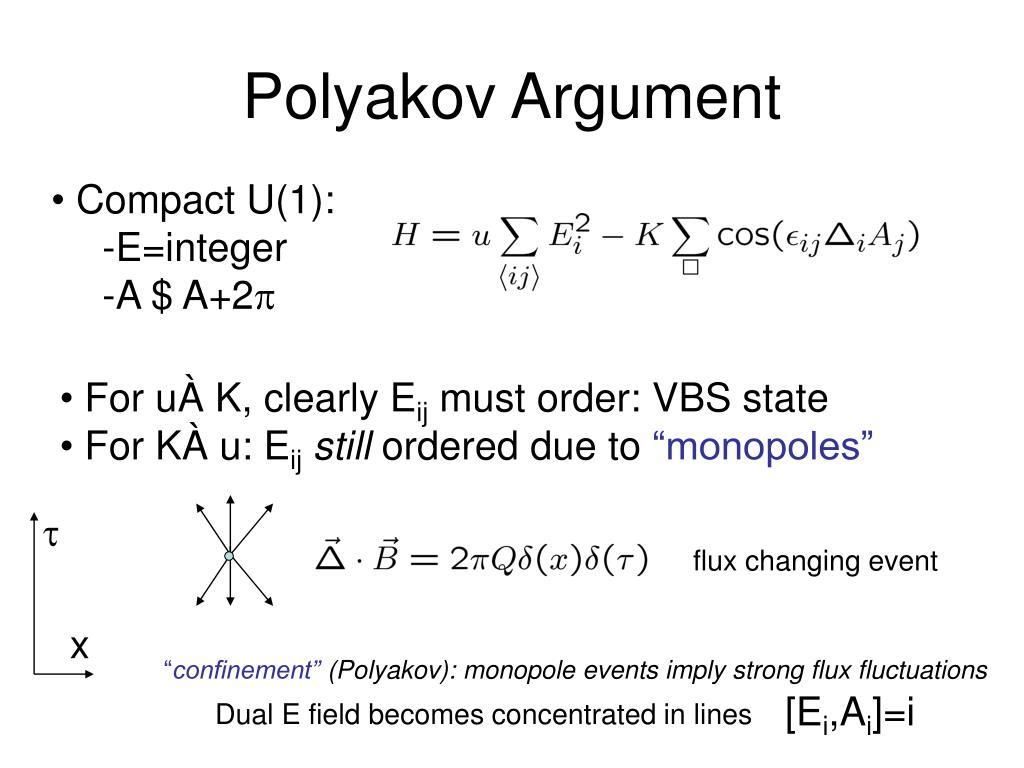 Polyakov Argument