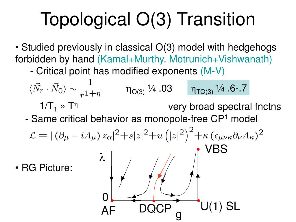 Topological O(3) Transition
