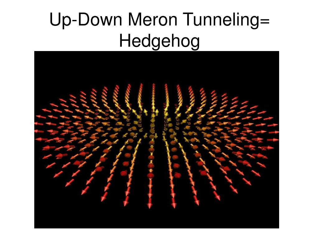 Up-Down Meron Tunneling= Hedgehog