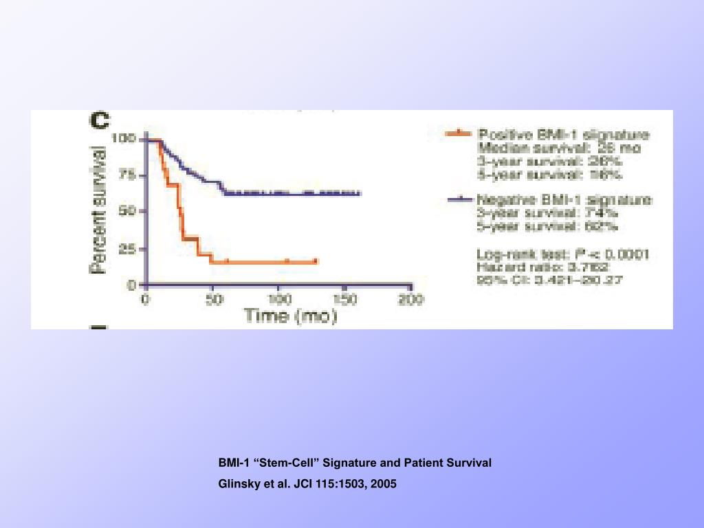 "BMI-1 ""Stem-Cell"" Signature and Patient Survival"